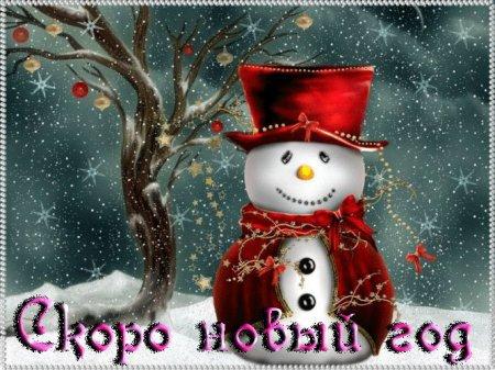 Скоро новый год!)